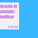 declaración sociedades científicas