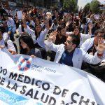 Foto: Colegio Médico de Chile. Manifestación del 23 de octubre.